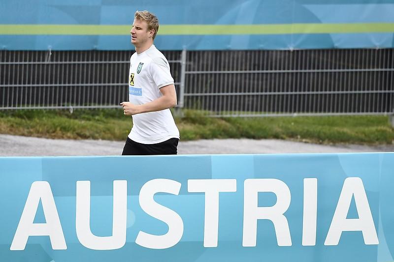 Martin Hinterger si allena per il team ÖFB a Seefeld.