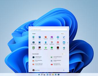 Home Screen von Windows 11