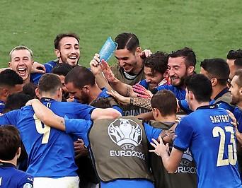 Jubel des italienisches Teams