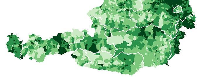 Grafik zum Impffortschritt in Österreich