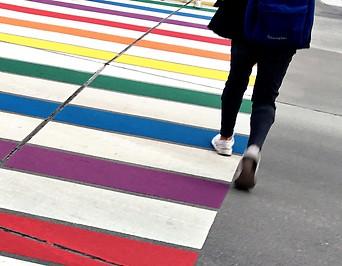 Bunter Regenbogenschutzweg