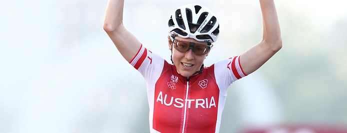 Die österreichische Radfahrerin Anna Kiesenhofer.