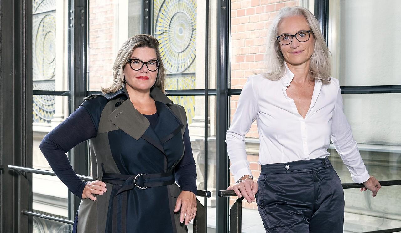 Lily Hollin, directora general y directora científica, y Theresa Mitterlaner Marchesani, directora económica de MAK
