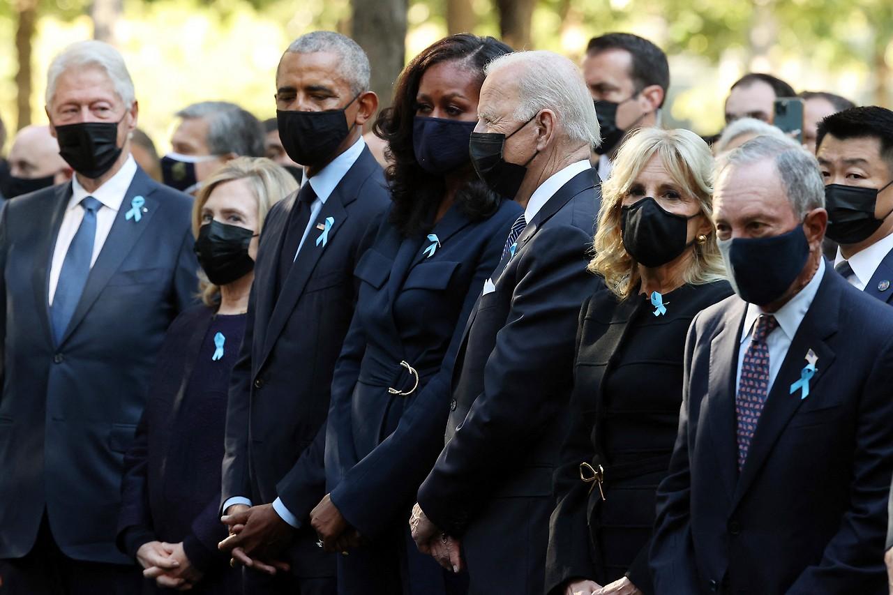 Gedenkfeier zu den Terroranschlägen vor 20 Jahren mit dem amtierenden und ehemaligen Präsidenten