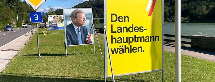 Wahlplakate zur OÖ-Wahl