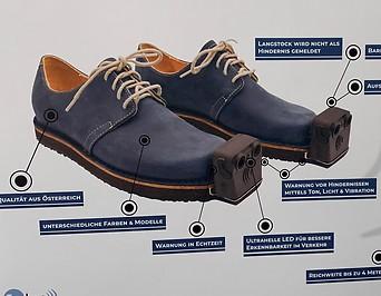 Auf dieser Skizze ist zu sehen, wie der sehende Schuh InnoMake aufgebaut ist.