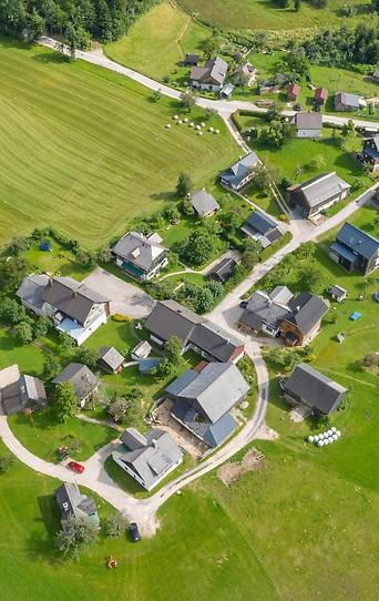 Wohnhäuser aus der Luftperspektive