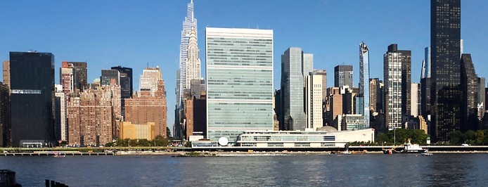 Skyline von New York mit dem UNO-Hauptquartier