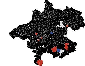 Oberösterreich-Karte im Detail