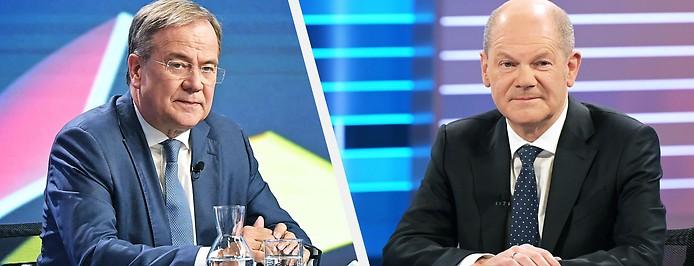 Armin Laschet (Union) und Olaf Scholz (SPD)