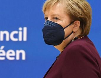 Deutschlands Kanzlerin Angela Merkel am EU-Gipfel