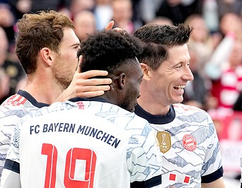 Spieler von Bayern jubeln