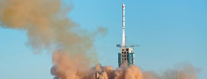 """Start einer chinesischen """"Langer Marsch""""-Trägerrakete"""