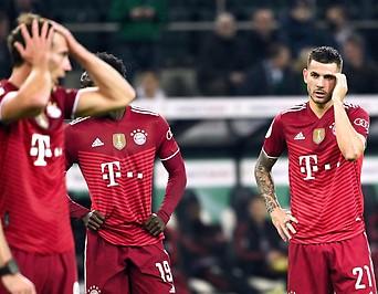 Fassungslose Bayern-Spieler