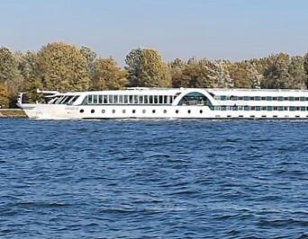 Das Kreuzfahrtschiff aus Deutschland.