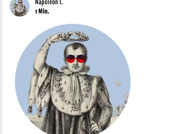 Profilbildanimation von Napoleon