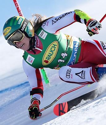 Die österreichische Skifahrerin Katharina Liensberger.