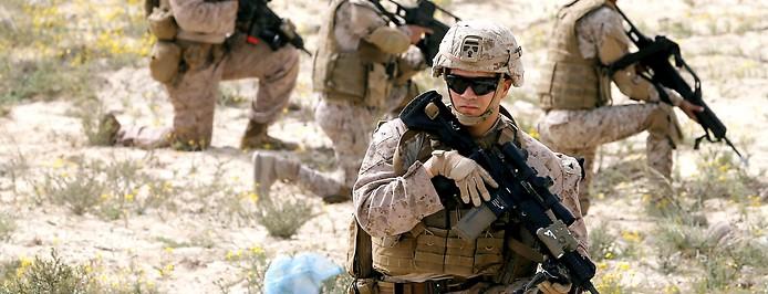 US Soldaten bei einer Übung in Ras Al Ghar